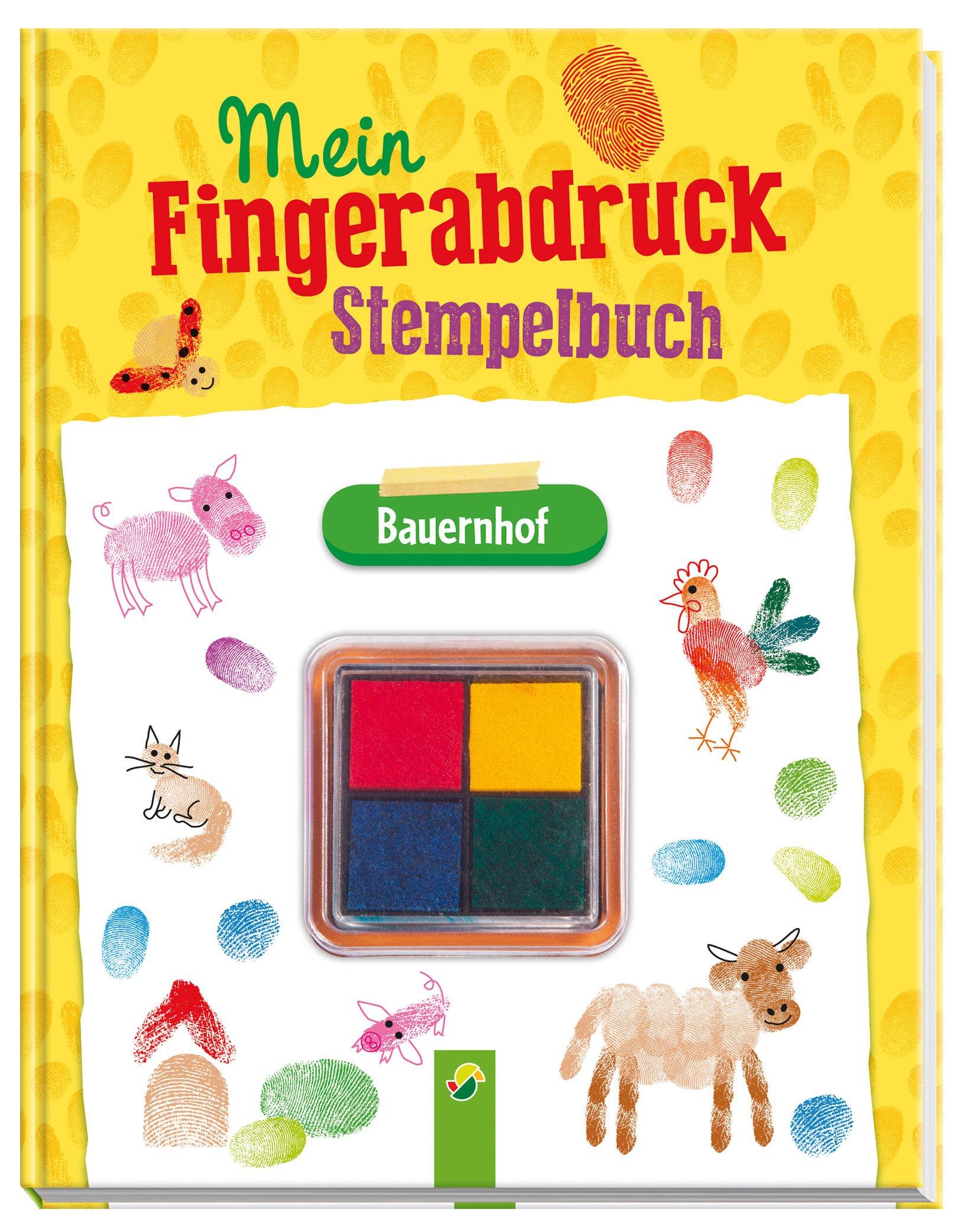 Mein Fingerabdruck Stempelbuch Bauernhof Mit Vierfarbigem Stempelkissen 9783849910143 Amazon Com Books