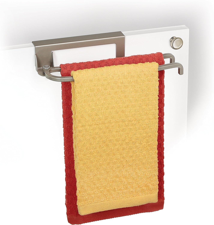 Chrome Lynk Over Cabinet Door Towel Bar