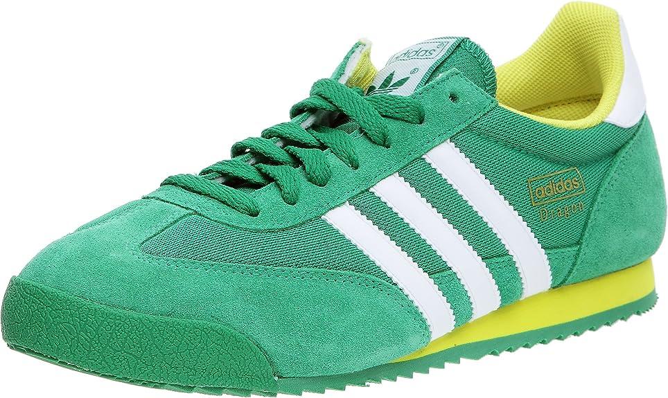 Adidas Originals-Dragon Zapatillas Deportivas para Hombre, Verde (Vert/Blanc/Citron), 43 1/3: Amazon.es: Zapatos y complementos
