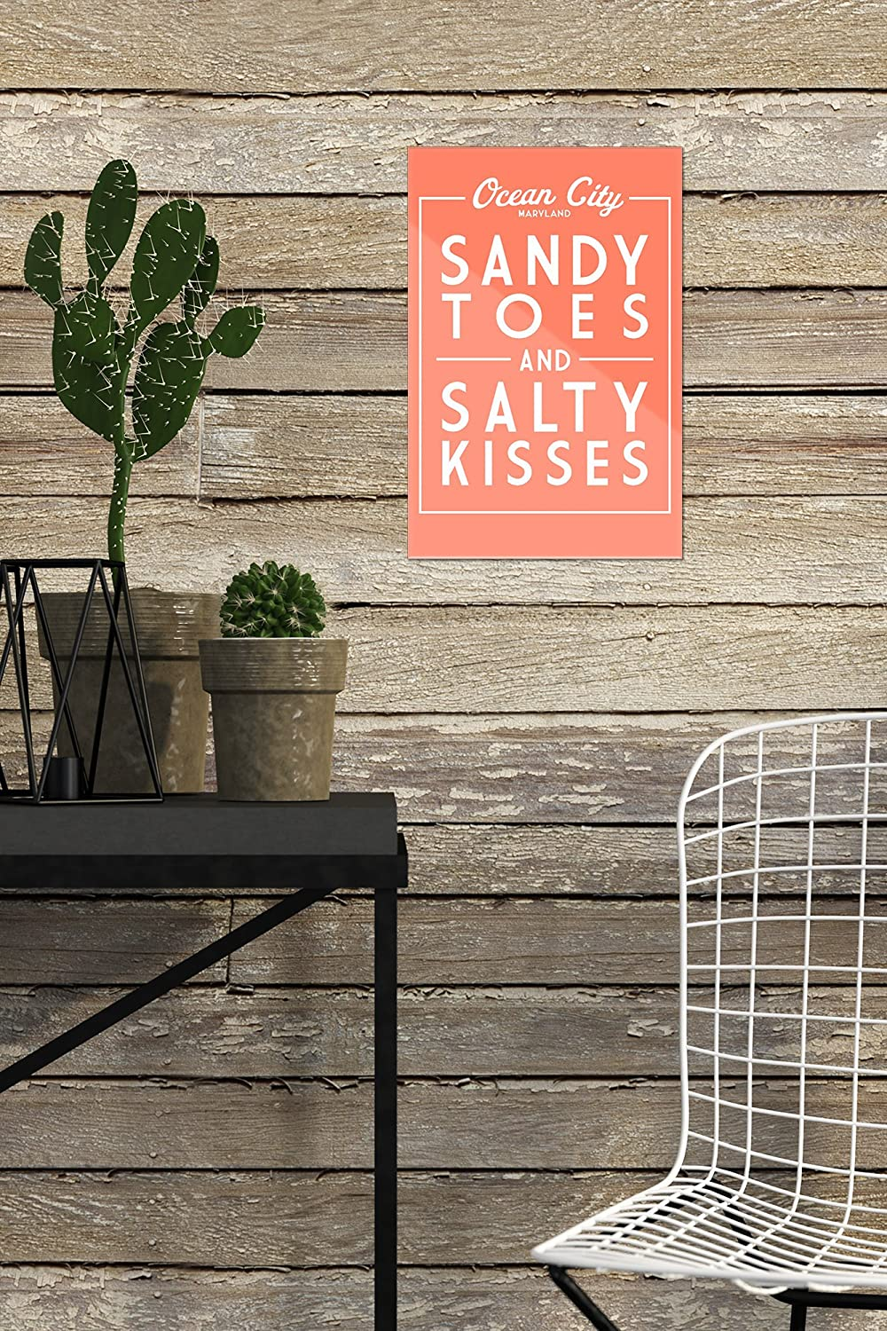 16x24 SIGNED Print Master Art Print - Wall Decor Poster Sandy Toes and Salty Kisses Simply Said 78867 Ocean City Maryland