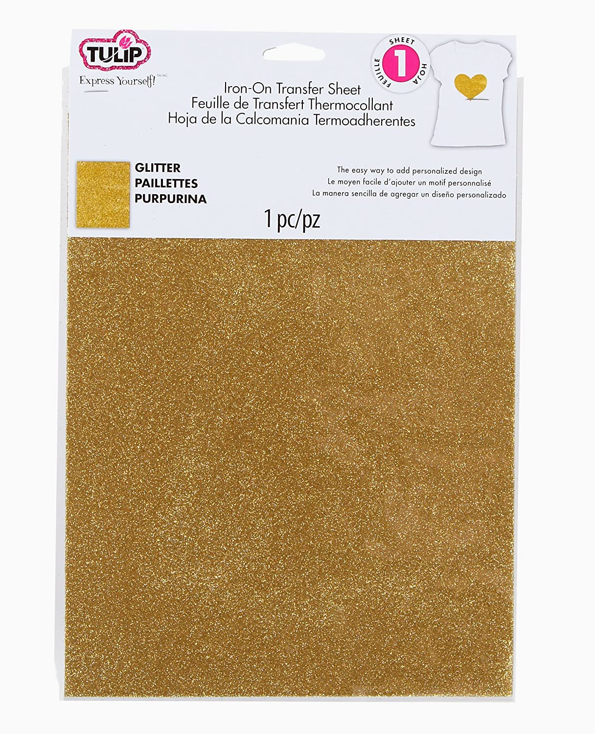 Amazon tulip 31624 iron on transfer sheets gold glitter arts amazon tulip 31624 iron on transfer sheets gold glitter arts crafts sewing solutioingenieria Image collections