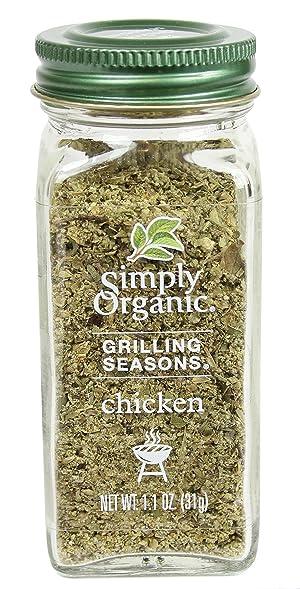 Simply Organic, Grilling Seasons, Chicken, Organic, 1.1 oz (31 g) Simply Organic, Grilling Seasons, Chicken, Organic, 1.1 oz (31 g)