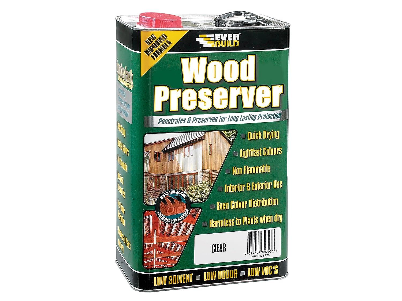 Everbuild EVBLJCR05 Wood Preserver Clear 5 Litre Toolbank
