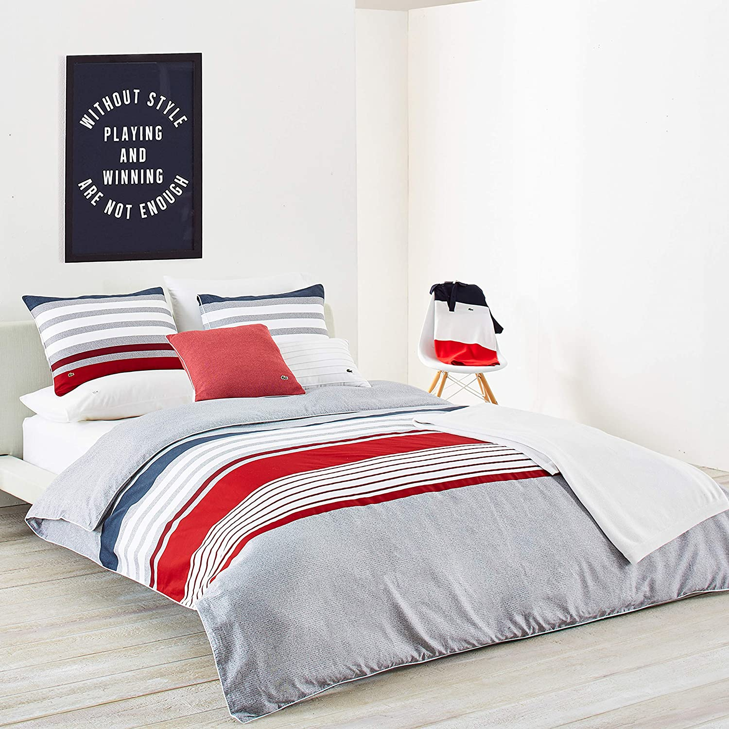 Lacoste Auckland Comforter Set, Chili Pepper, King