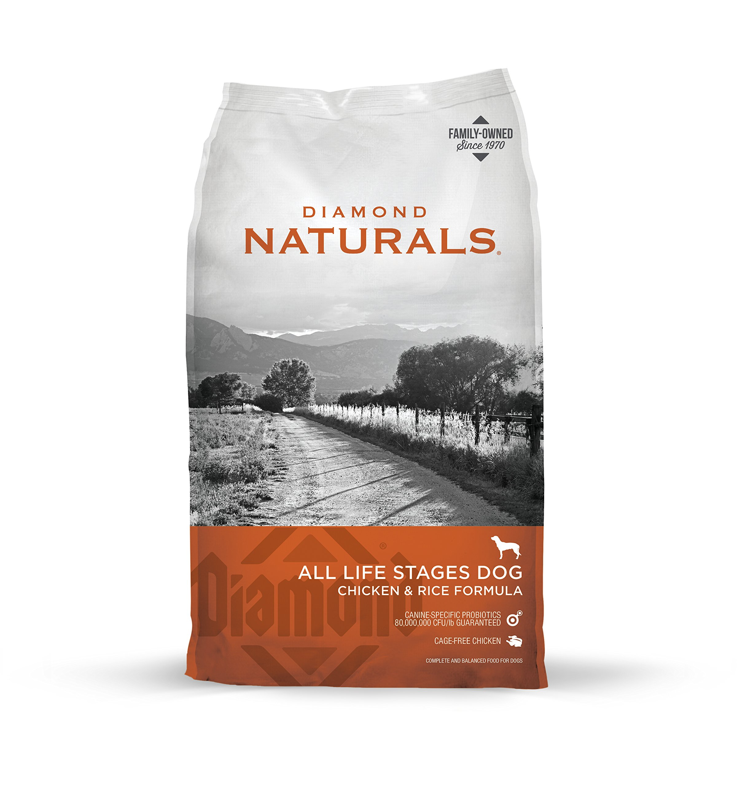 Diamond Naturals All Life Stages Real Meat Recipe Premium Dry Dog Food with Real Cage Free Chicken 40lb
