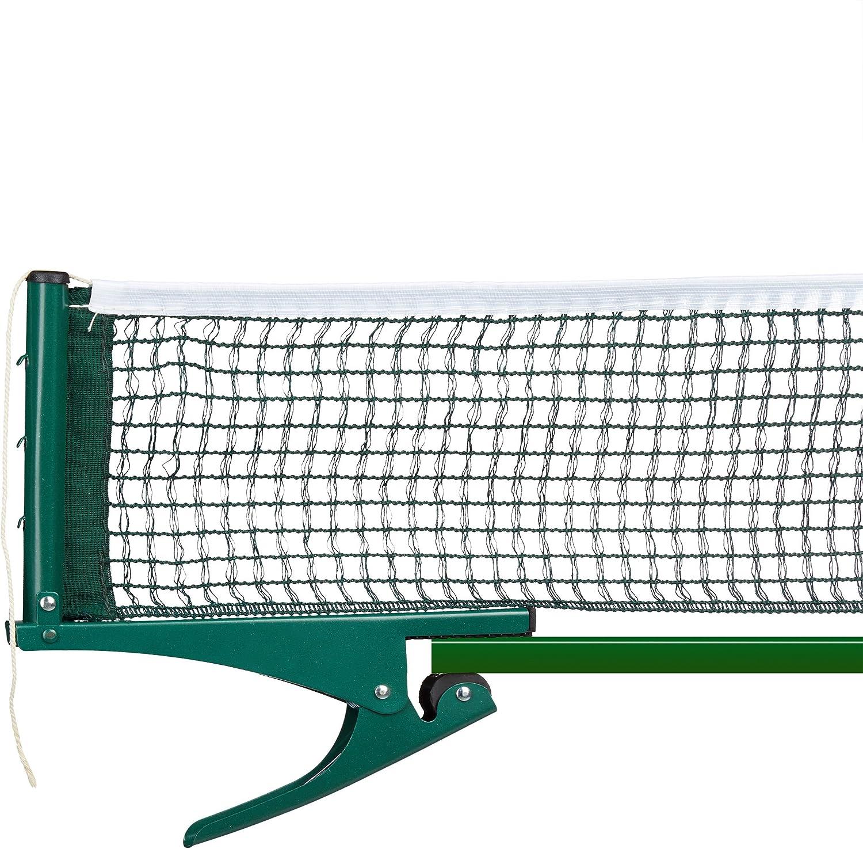 Relaxdays–Tenis de Mesa de alimentación de Red, Ping Pong, Metal Pinzas, Exterior, Impermeable, H x B x T: 15x 174x 2,5cm, Color Verde