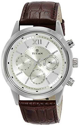 9bc8b31d4 Image Unavailable. Image not available for. Colour  Titan Neo Analog  Champagne Dial Men s Watch ...