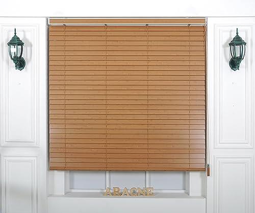 Custom Cut to Size , Winsharp Wood Uvclassic , uvclassic_902, W 33 x H 64 Inch Horizontal Window Real Wood basswood Blinds Treatments , Maximum 95 Inch Wide by 103 Inch Long