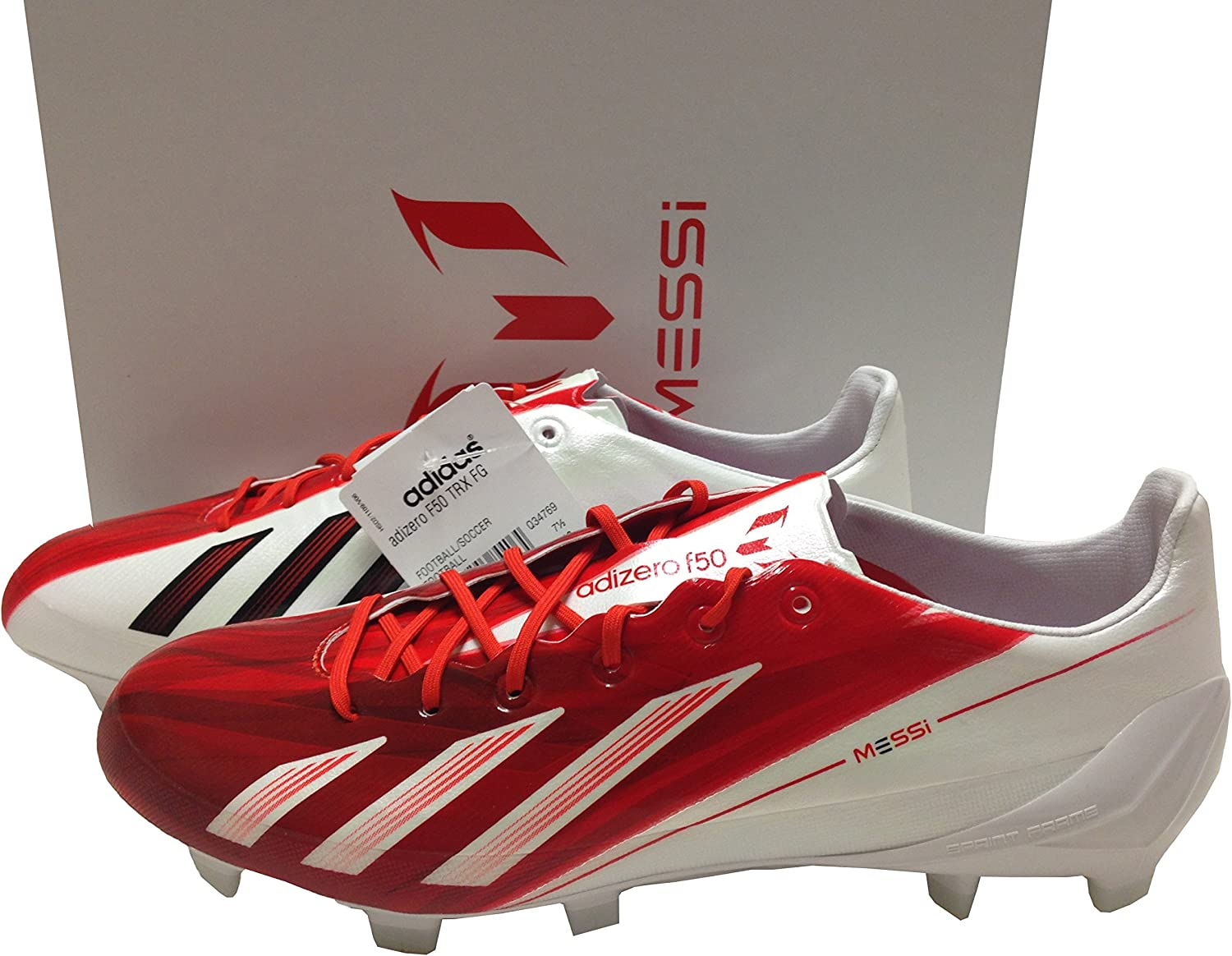 adidas F50 Messi TRX FG BlancRouge Taille 7 Crampons de