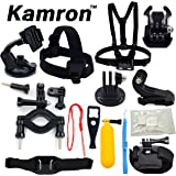 Kamron Go-Pro 12 in 1 Sports Accessories Kit for GoPro Hero 5 4 3+ 3 2 1