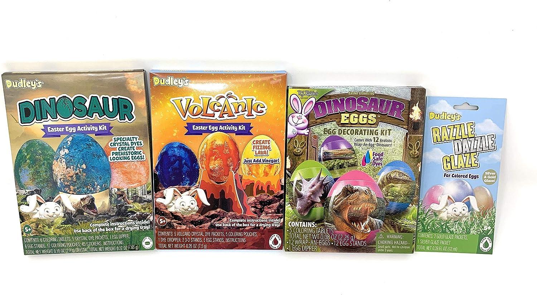 Easter Egg Dying Kits - Dinosaurs Eggs - 4 piece - Easter Egg Decorating Kit - Food Safe Dyes