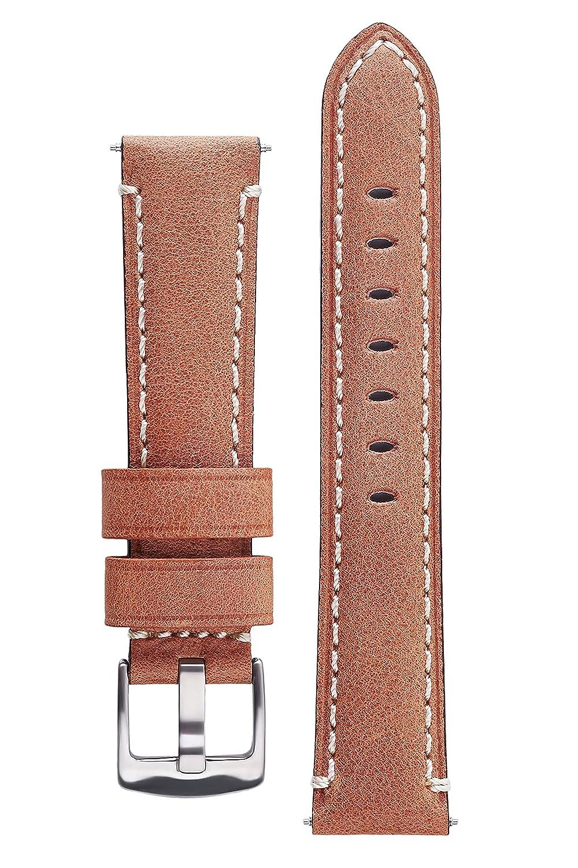 署名MaydayカーフスキンWatch Bandレザー時計ストラップ交換用ブレスレット 20 mm ウッド 20 mm|ウッド ウッド 20 mm B01LYHJQFC