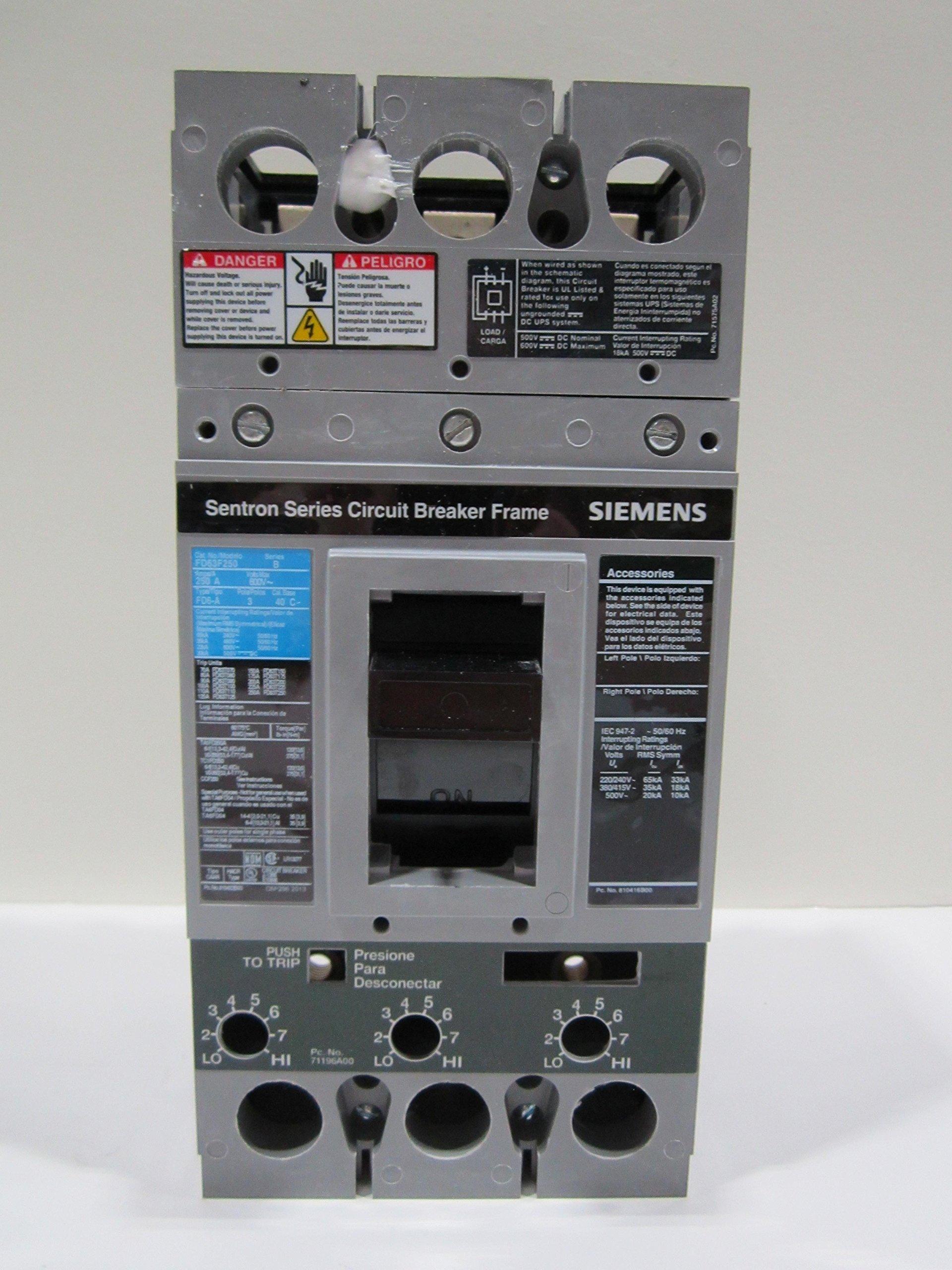 Siemens Distribution And Controls - Fd63F250