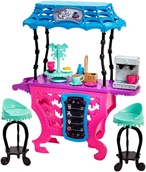 Mattel DNX01 Toy - Monster High - Fright Roast Coffee Deluxe Fashion Doll Cafe Playset