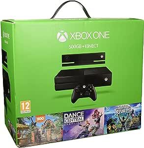 Microsoft Xbox One 500GB + Kinect + Dance Central Spotlight + Kinect Sports Rivals + ZOO Tycoon Negro Wifi - Videoconsolas (Xbox One, Negro, 8192 MB, DDR3, AMD Radeon, Unidad de disco duro): Amazon.es: Videojuegos