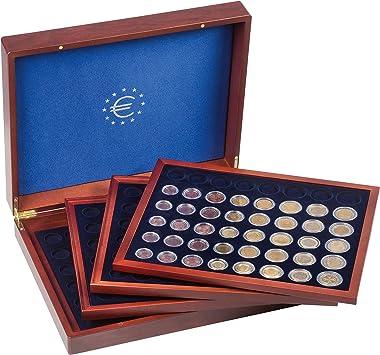 Estuche VOLTERRA QUATTRO para 24 series de monedas en euros en cápsulas, acaobado: Amazon.es: Juguetes y juegos