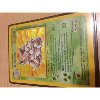 Pokemon Card 11/102 - NIDOKING (holo-foil): Toys & Games