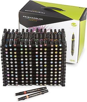 Bold Point 4//Pack Assorted Colors Prismacolor Premier Brush Tip Markers