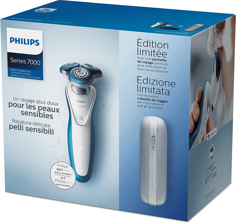 Philips SHAVER Series 7000 - Afeitadora (Rotation shaver, Azul ...