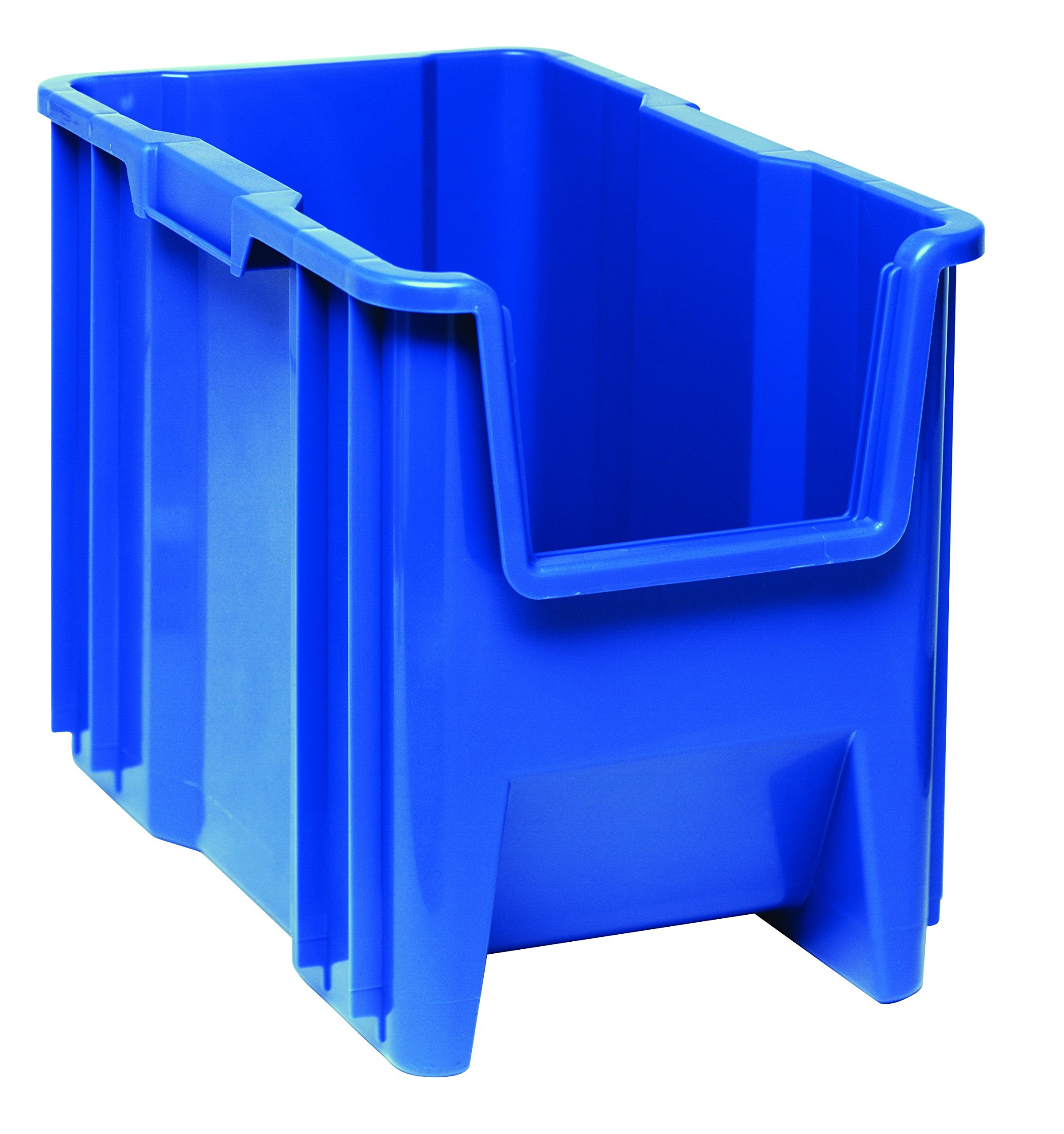 Quantum Storage Systems QGH600BL Multi-Purpose Giant Stacking Open Hopper Container, 17-1/2'' x 10-7/8'' x 12-1/2'', Blue (Pack of 4)