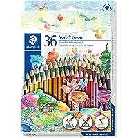 STAEDTLER 187 CD36 ST Noris 彩色铅笔(增强的断裂强度,三角形,吸引人的设计,人体工程学柔软表面,Wopex 材质,套套配36色盒装)