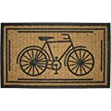 "Imports Decor Rubber Back Coir Doormat, Bike, 18"" by 30"""