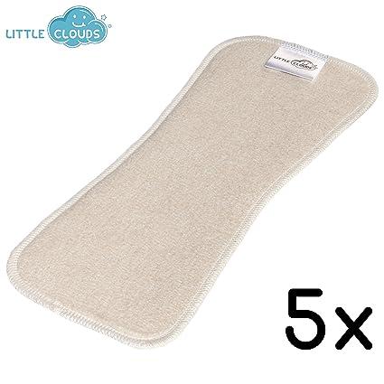 Little Clouds – bambú/cáñamo/bio de algodón absorbentes – (5 unidades)