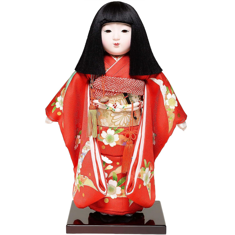 【雛人形】【市松人形】12号市松:正絹京染手縫い衣裳:元賀章介作:元賀 章介作【ひな人形】【浮世人形】 (人形) 人形  B01M12NBOQ