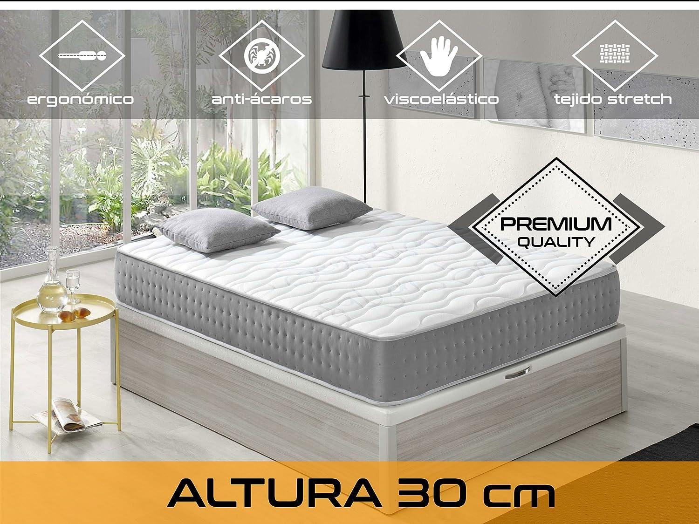 Relaxing - Confort Elixir 30 5.0 - Colchón viscoelástico y grafeno, 150 x 190 x 30 cm, Todas las medidas: Amazon.es: Hogar