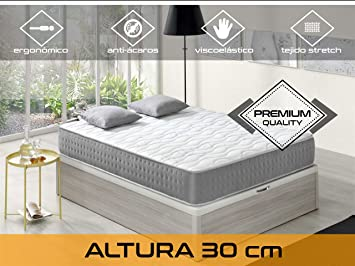 Relaxing - Confort Elixir 30 5.0 - Colchón viscoelástico y grafeno, 90 x 200 x 30 cm, Todas las medidas: Amazon.es: Hogar