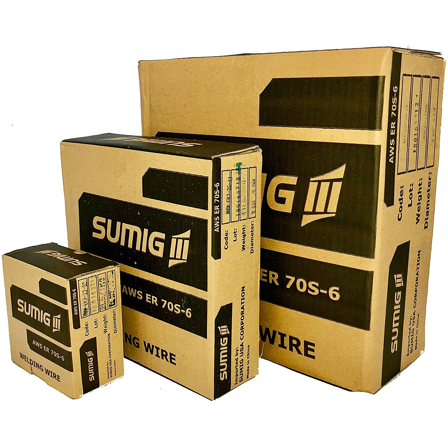 MIG WELDING WIRE CARBON STEEL ER70S-6 AWS A5.18 11lb (5kg) 0.035' (0.9mm) Sumig