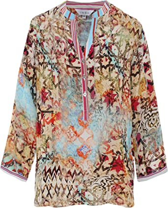 Inoa Mujeres Camisa de Seda de Arizona Milano Multi Coloured ...