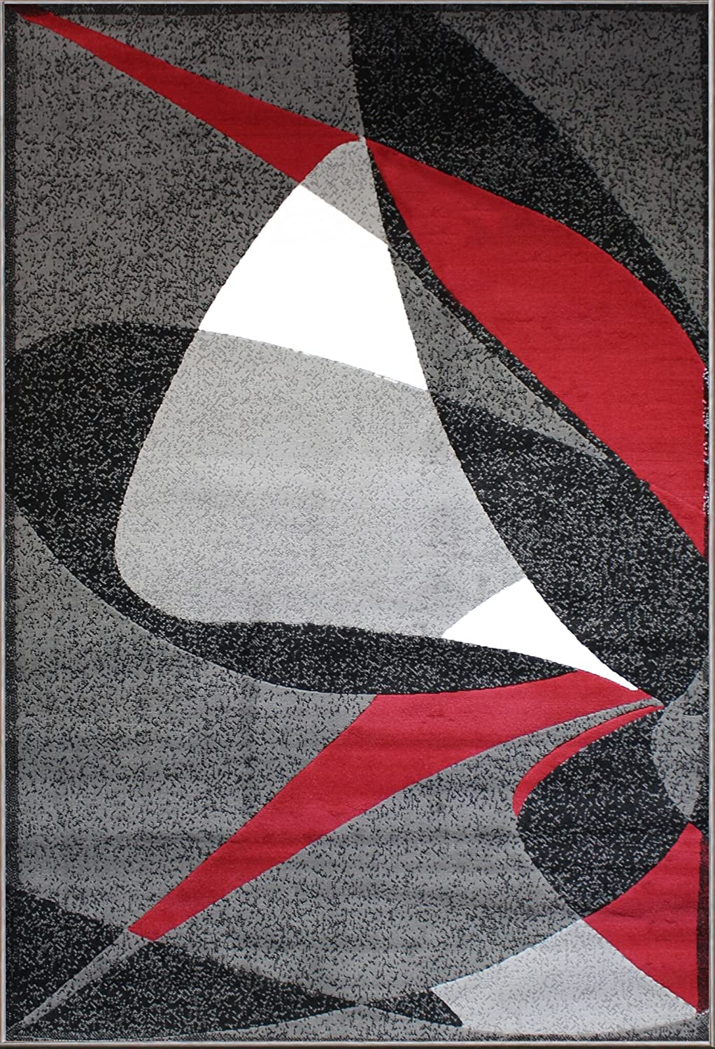 Gray Black Red White Modern Abstract Area Rugs Carpets New Size Options Available (5
