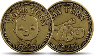 This or That Original Diaper Changing Coin | Flip Coin to See Who Changes Diaper