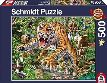 Puzzles & Geduldspiele Puzzle 500 Teile Spiel Deutsch 2014 Jaguar Nachwuchs
