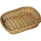 """Excellanté 12"""" x 9"""" x 3"""" Hand-Woven Basket, Rectangular, Plastic"""
