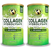 Great Lakes Gelatin, Certified Paleo Friendly, Pasture-Raised Grass-Fed, Collagen Hydrolysate, Collagen Peptides, Non GMO, 16 oz, 2-Pack, Frustration Free Packaging