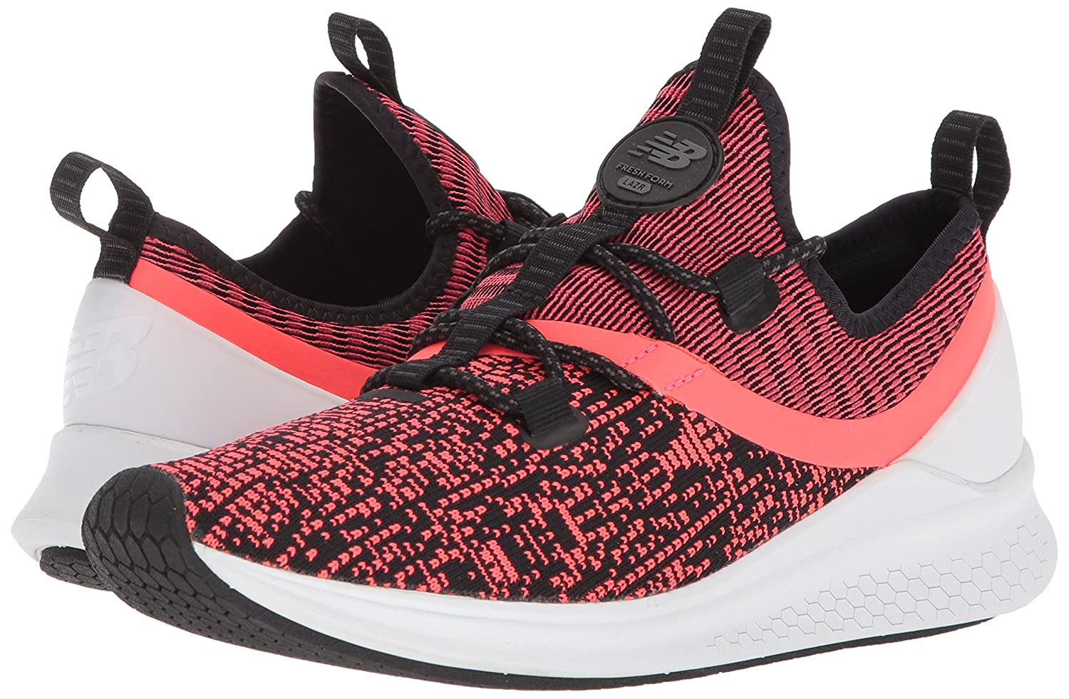 New Balance Women's Fresh Foam Lazr V1 Sport Running Shoe B06XRV2VVL 9 W US|Vivid Coral/Black/White Munsell