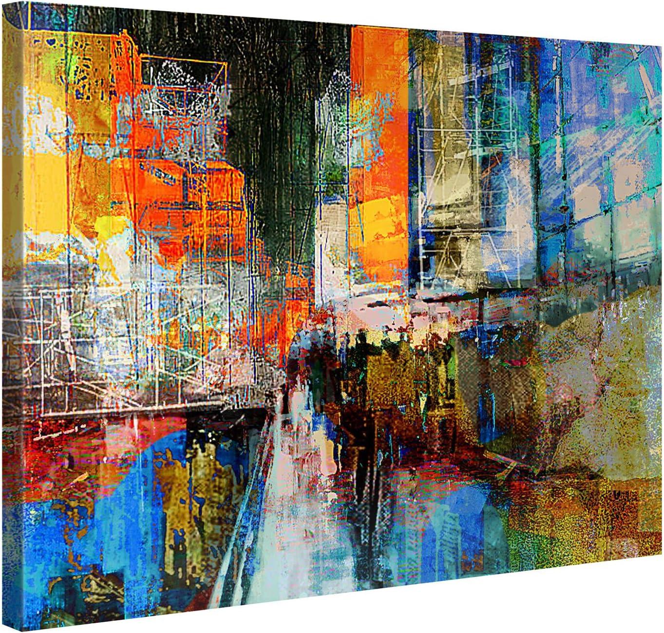 Impresión de pared,100x 75cm, lienzo en marco de madera, 7.ª avenida