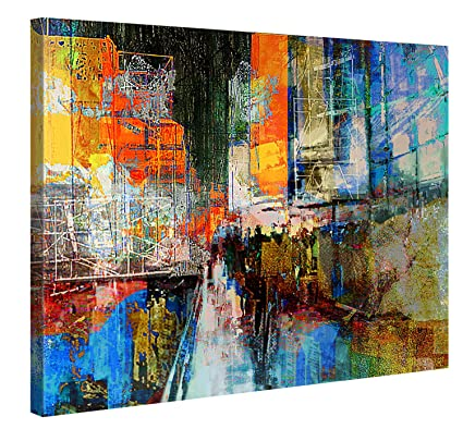 Large canvas print wall art 7th avenue 40x30 inch cityscape canvas picture stretched on