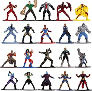 """Marvel 1.65"""" Die-cast Metal Collectible Figures 20-Pack Wave 3, Toys for Kids and Adults"""