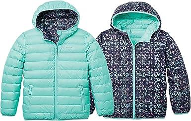 Eddie Bauer Girls Reversible Hooded Down Jacket