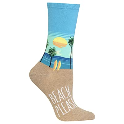 Hot Sox Women's Beach Please Socks at Women's Clothing store