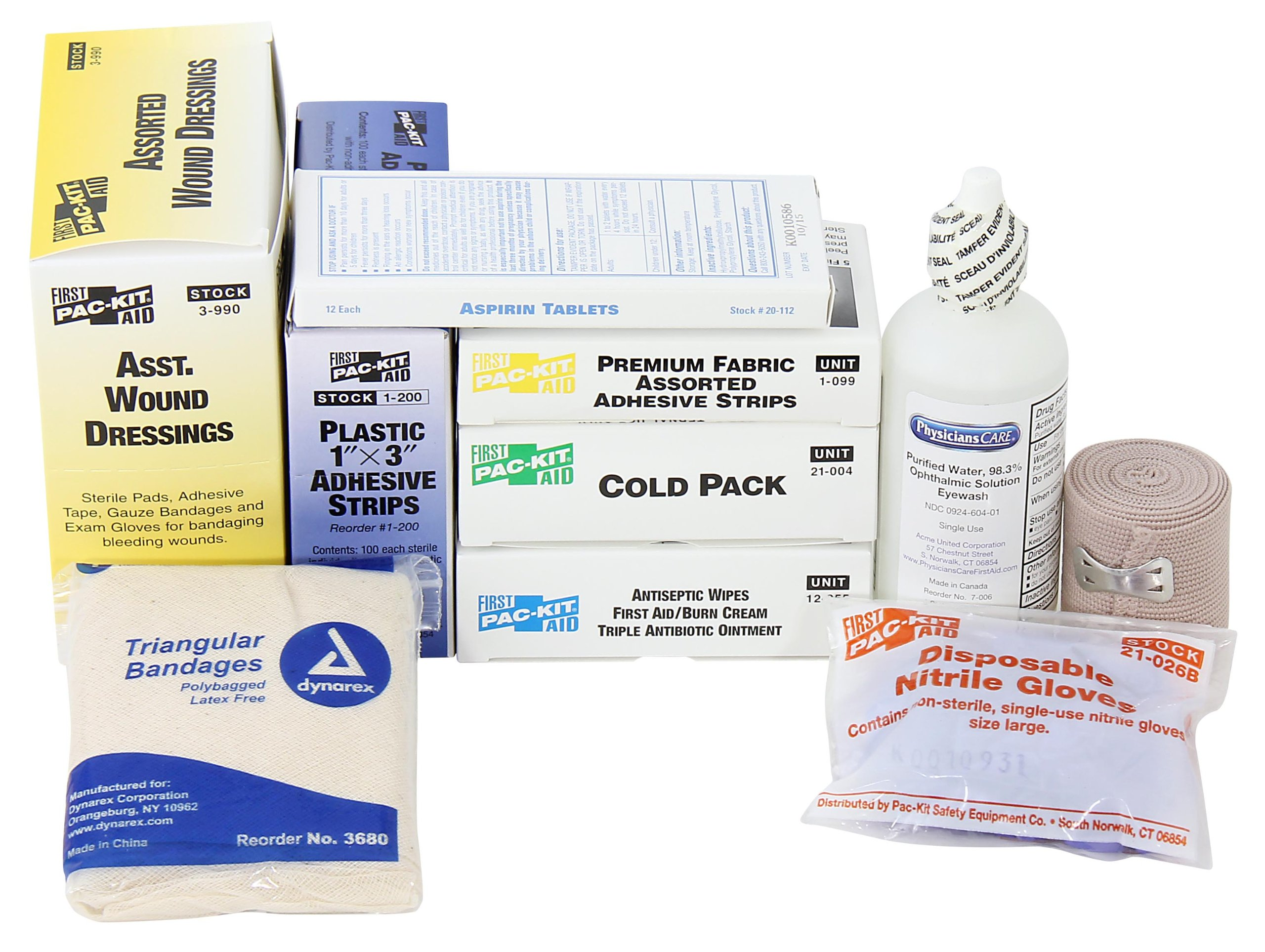 Pac-Kit by First Aid Only 6095 192 Piece ANSI Compliant First Aid Refill Pack For 50 Person First Aid Kits