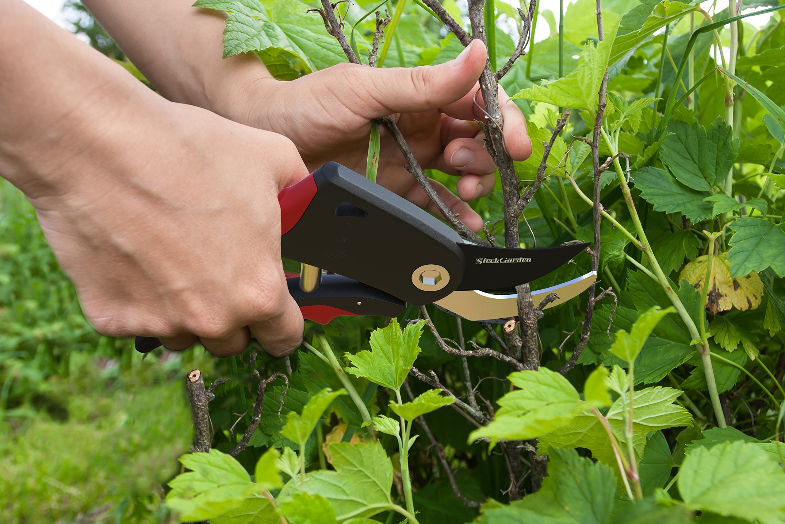 Comfort Plus 7-Piece Gardening Tool Set - Includes EZ-Cut Pruners, Lightweight Aluminum Tools with Soft Rubber Handles and Ergonomic Garden Tote and High Density Comfort Knee Pads by Sleek Garden (Image #7)