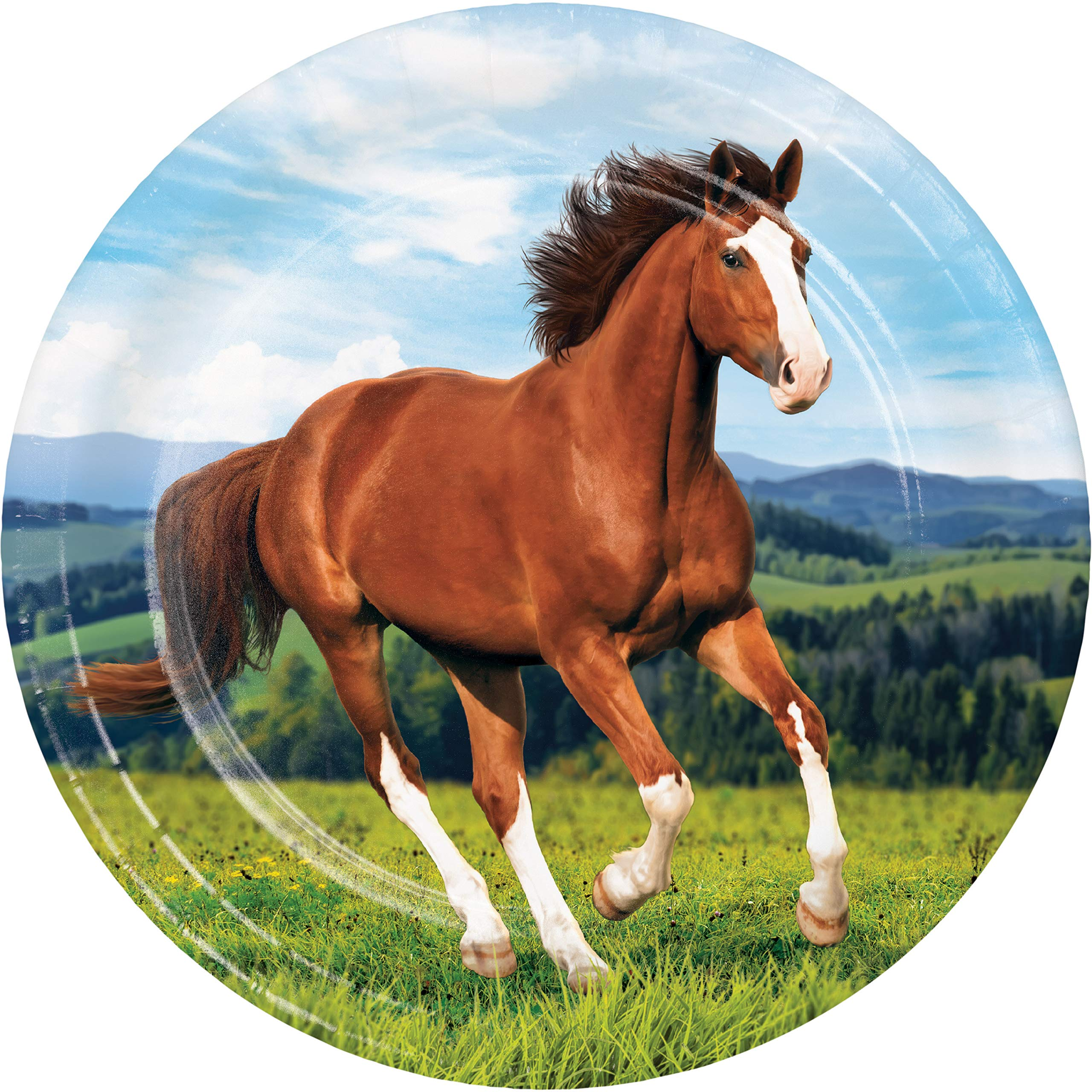 Wild Horse Paper Plates, 24 ct by Creative Converting