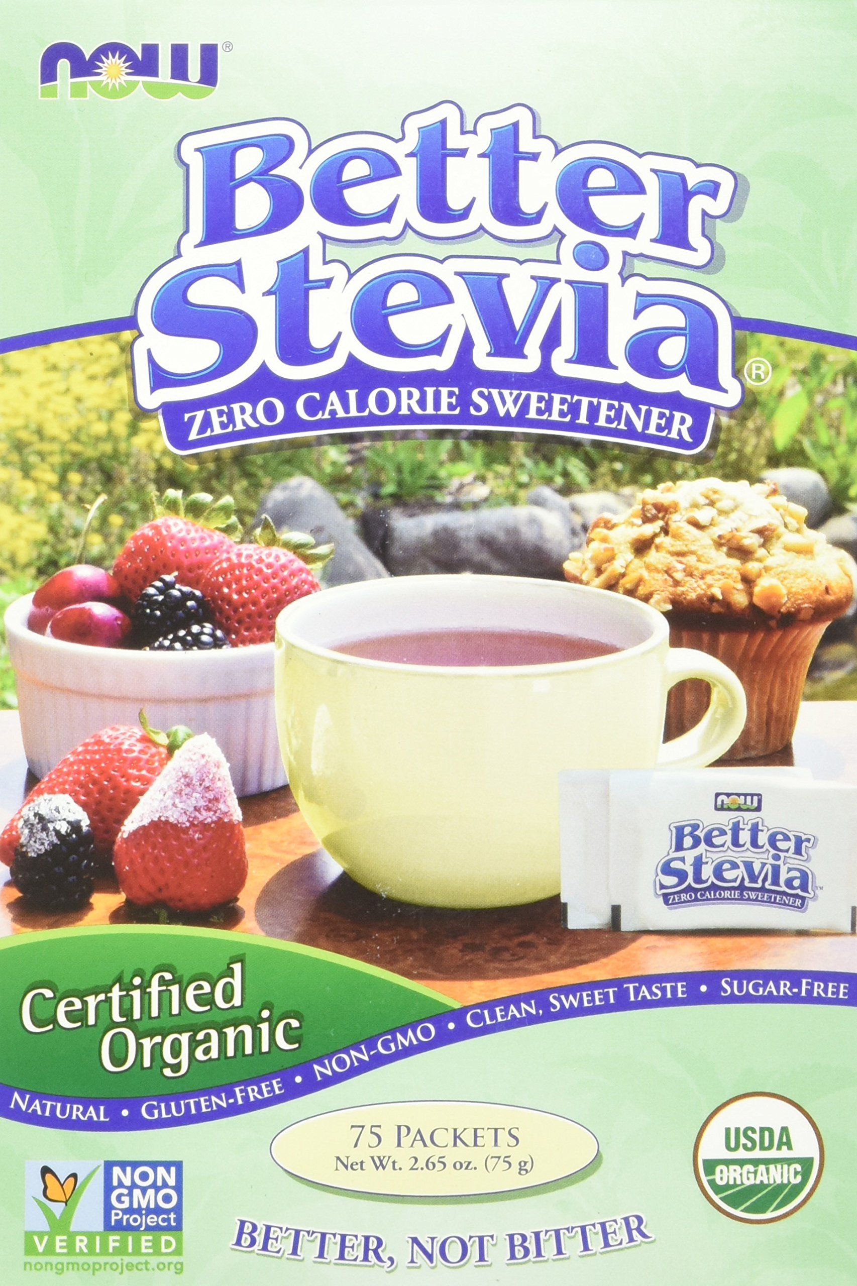 Now  Better Stevia Organic Sweetener, 75 Count