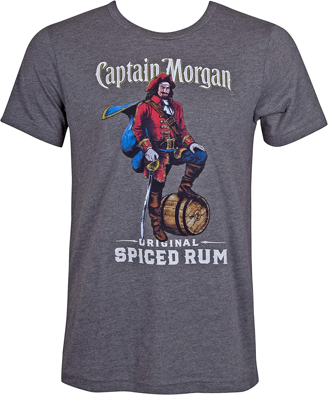 Captain Morgan Spiced Rum Grey Tee Shirt