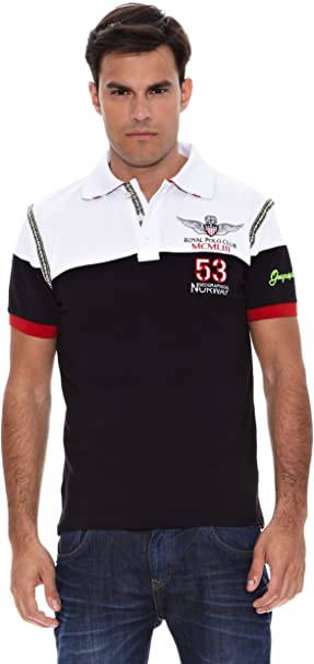 Geographical Norway Polo Manga Corta Karosso Negro/Blanco L ...