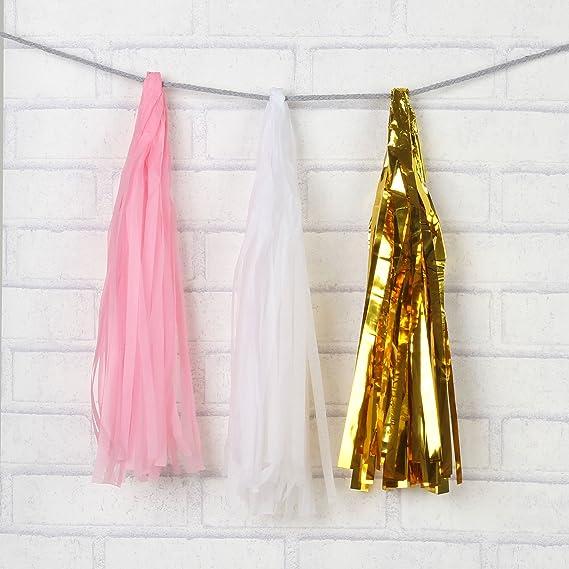 Amazon.com: ZOOYOO Globos de papel de seda dorado de 36 ...